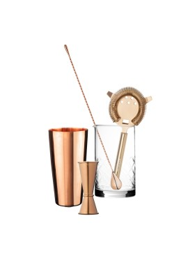 Copper Vintage Bar Set