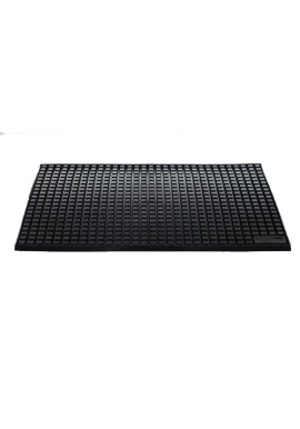 Black Bar Service Spill Mat with Soft Rubber