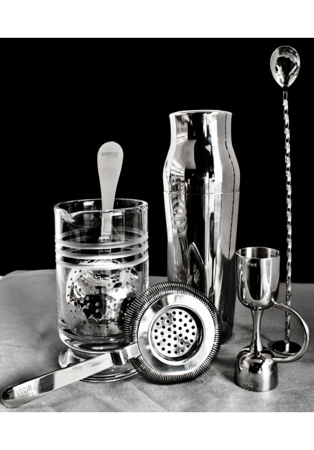 Kit barman shaker 5 pezzi Luxury Bronzo Shaker Boston tin Julep strainer 03