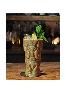 Cheeky Tahiti Rust Tiki Mug