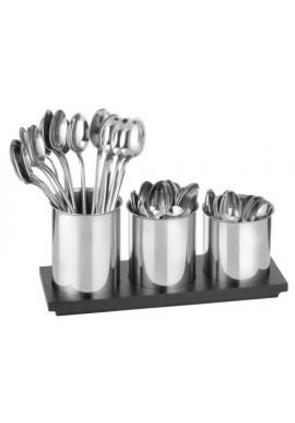 Three Stainless Steel Spoon Holders