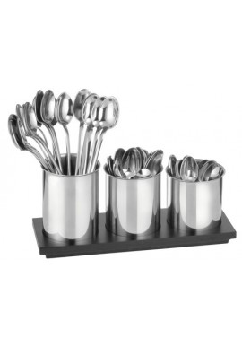 Three Stainless Steel Spoon Holders