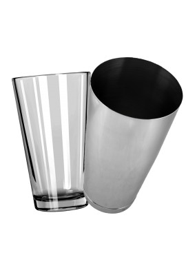 Mixing Glass with Stainless Steel Boston Shaker