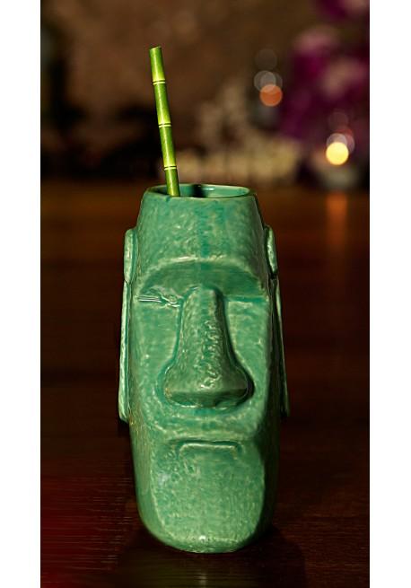 Green Moai Tiki Mug Tiki Mugs Pro Bar