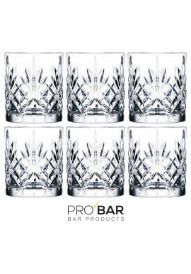 Crystal Melodia Old Fashioned Glasses (set of 6)