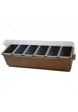 Condiment Holder Eco Wood 6 containers