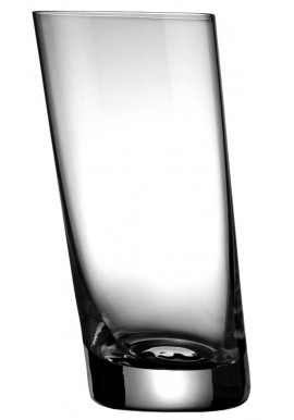 Vintage Tilted Tumbler Glass