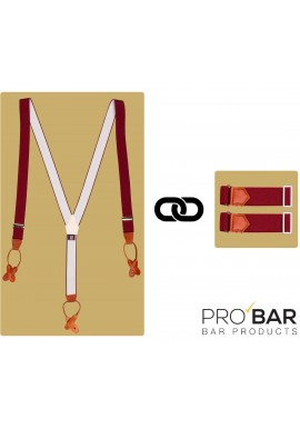 Vintage Burgundy Sleeve Holders and Suspenders Kit
