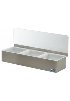 Portable Steel Condiment Holder (3 holders)