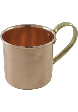 Vintage Cocktail Mug in Pure Copper with Brass Handle