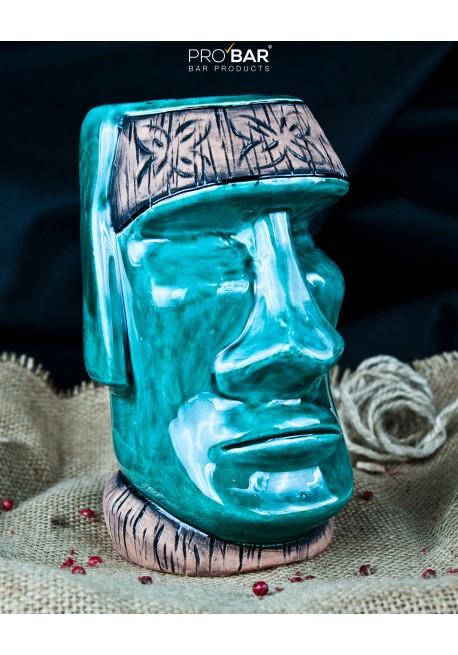 Turquoise Tiki Mug Moai Tiki Mugs Pro Bar