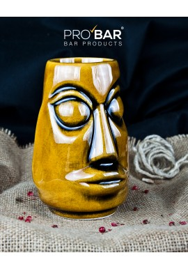 Brown Mini Tiki Mug Moai