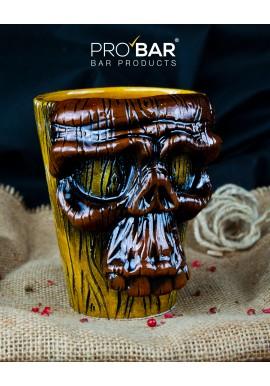 Wooden Skull Tiki Mug