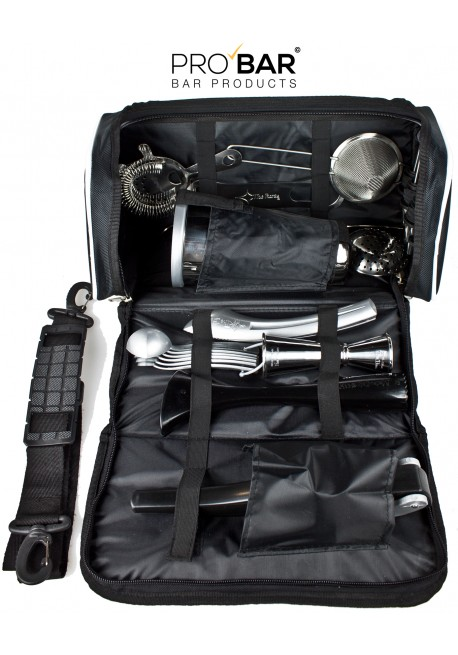 Leather Bartender Bag With Kit Bar Tools Pro Bar