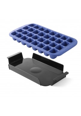 Black Ice Tray 4 Ice Shot Glasses