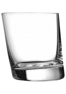 Vintage Tilted Old Fashioned Glass