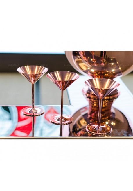 Copper Martini Glass Lumian Glassware Pro Bar