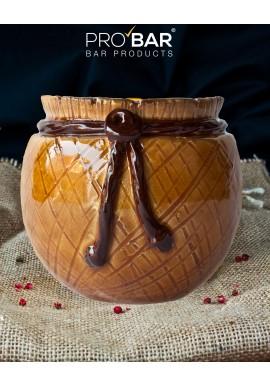 Tiki Mug Wicker Jar