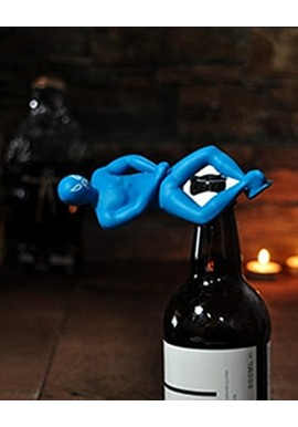 Luchador Bottle Opener Blue