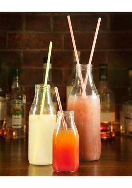 Vintage Glass Milk Bottle 50cl