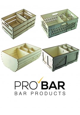 Bar Organizer in Beech Wood