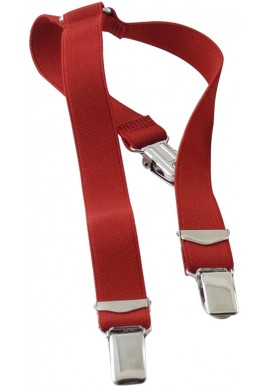 Elastic Red Suspenders