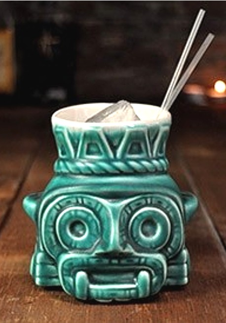 Aztec God Tiki Mug Bar Glasses Pro Bar