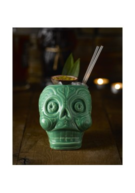 Day of the Dead Tiki Mug (Green)