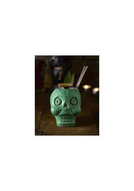 Green Moai Tiki Mug