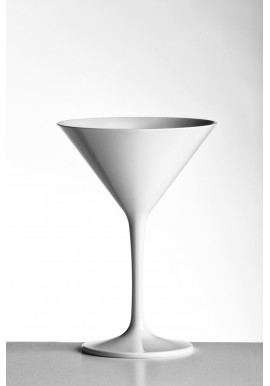 White Polycarbonate 23cl Double Martini Glass