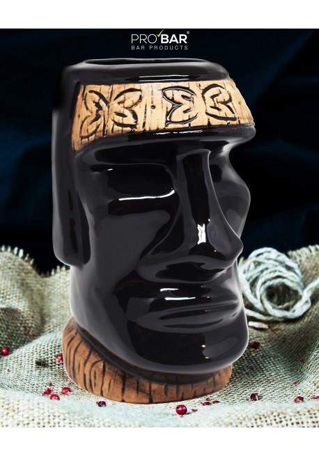 Black Tiki Mug Moai