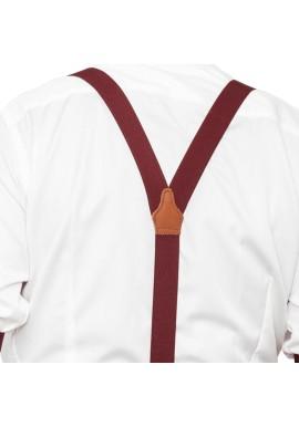 Vintage Burgundy Suspenders