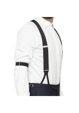 Vintage Black Sleeve Holders and Suspenders Kit