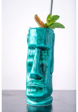 Blue Tiki Mug Moai