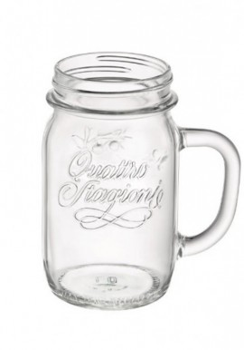 4 Seasons Mason Jar with Handle 40cl