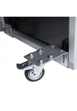 Retractable wheels with brake