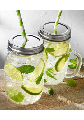 4 Seasons 40cl (12pcs.) Mason Jar with Handle
